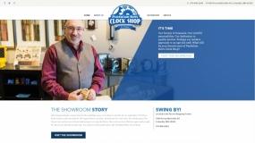 Website design for Pendulum Bob's Clock Shop