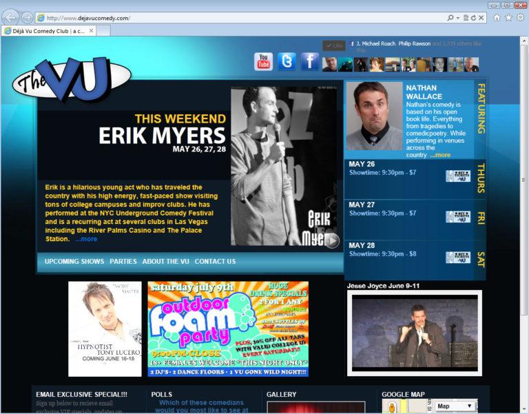 Deja Vu Comedy website