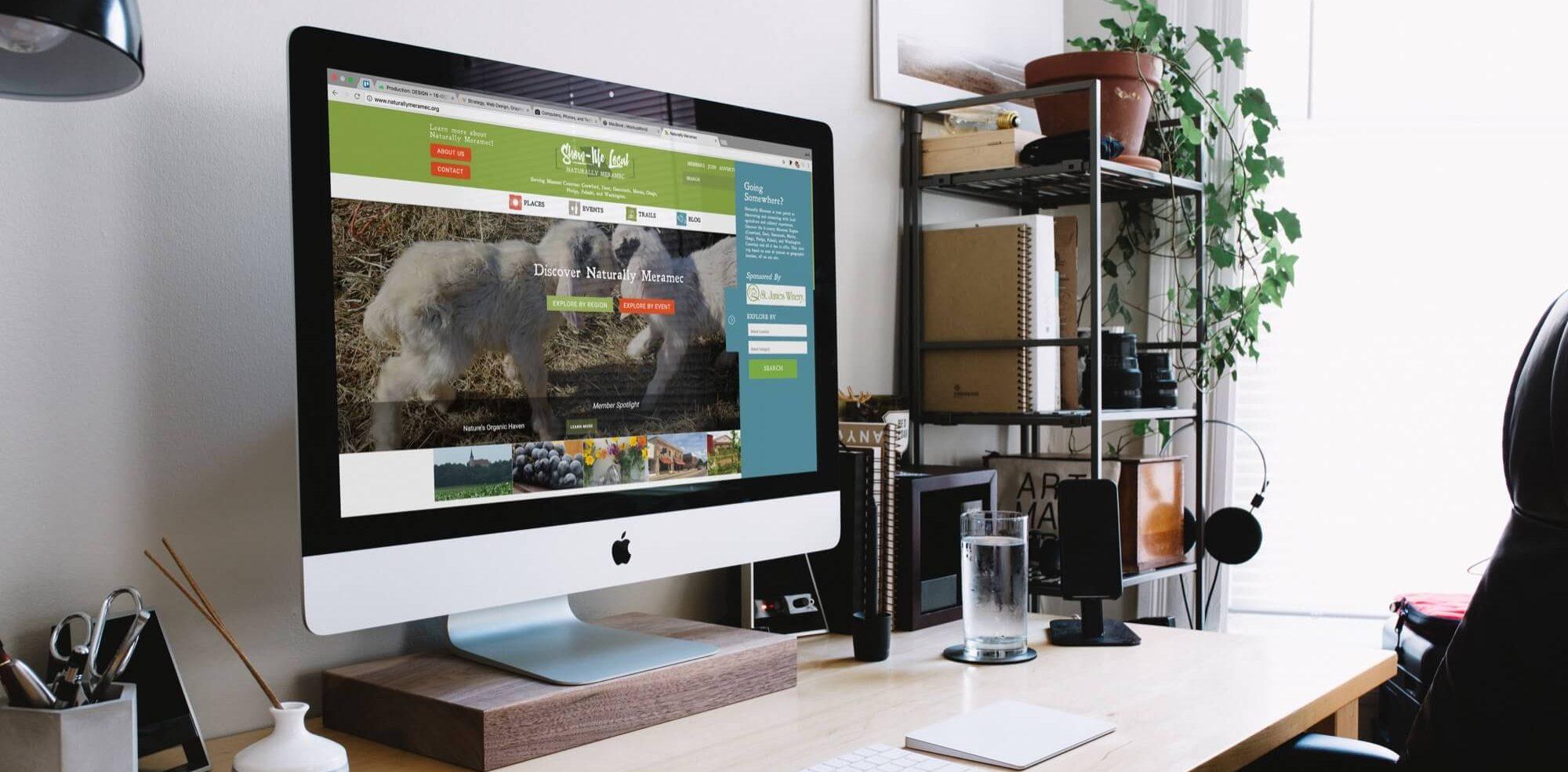 desktop display, web design, marketing