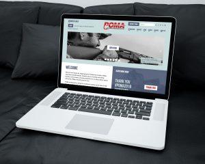POMA outdoor brand website design