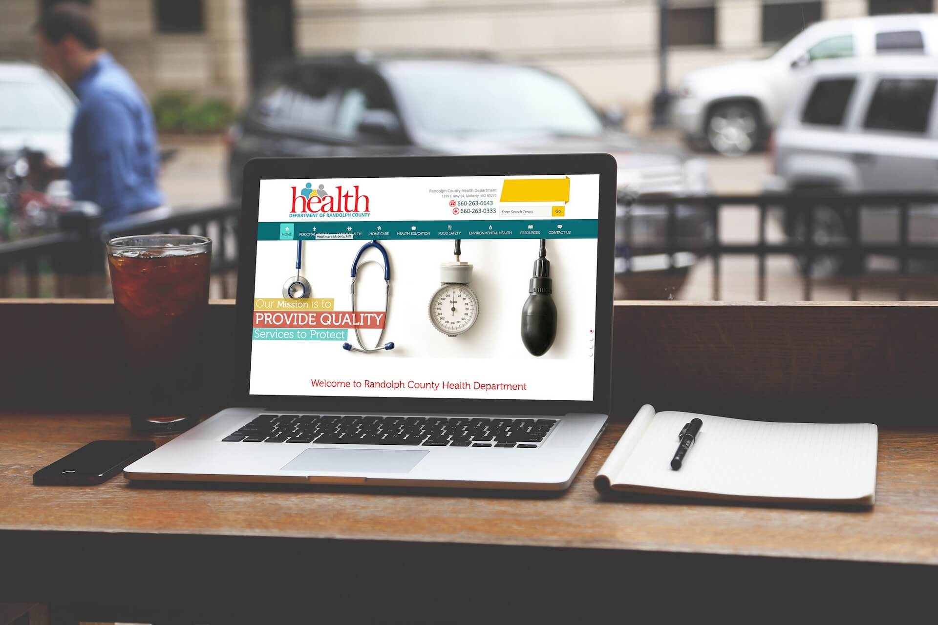 Randolph County Health Department Website Design