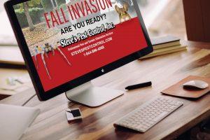 steves pest control website design
