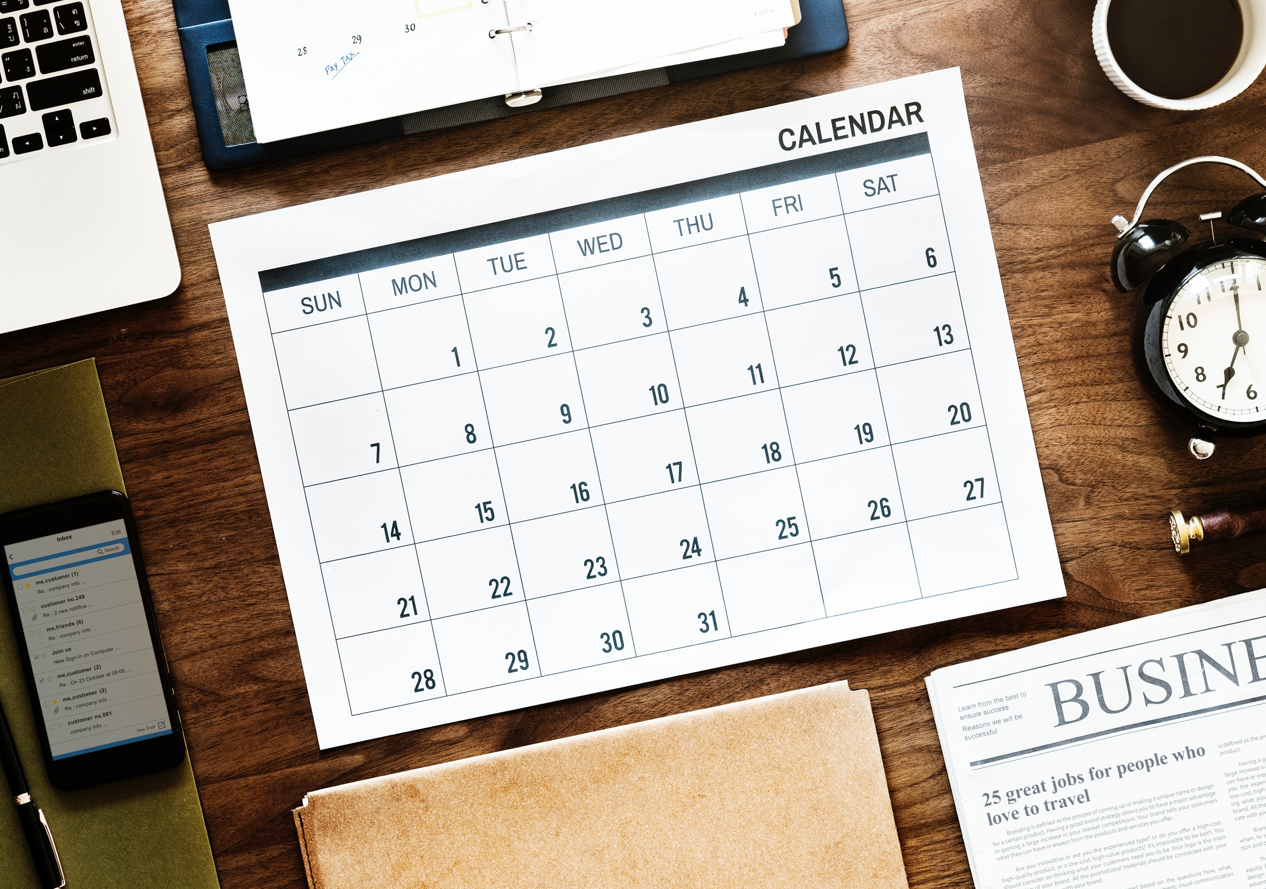 2018 Social Media Marketing Calendar
