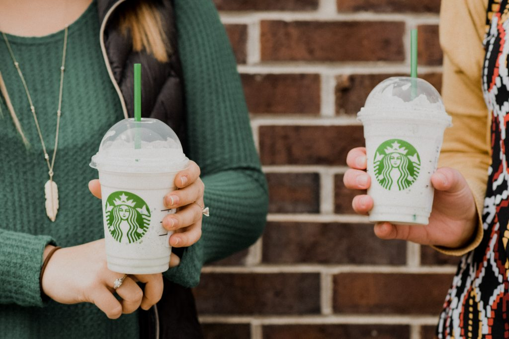 we tried the starbucks crystal ball frappuccino