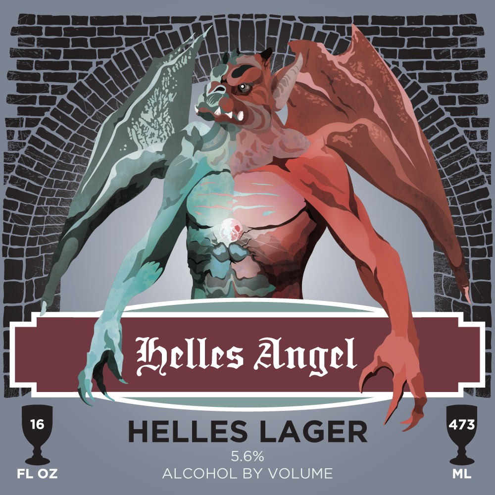 Black Cloister Brewing Company Helles Angel Label