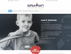SuperSam Foundation Website