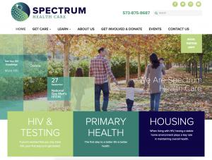 Spectrum Healthcare Website Design