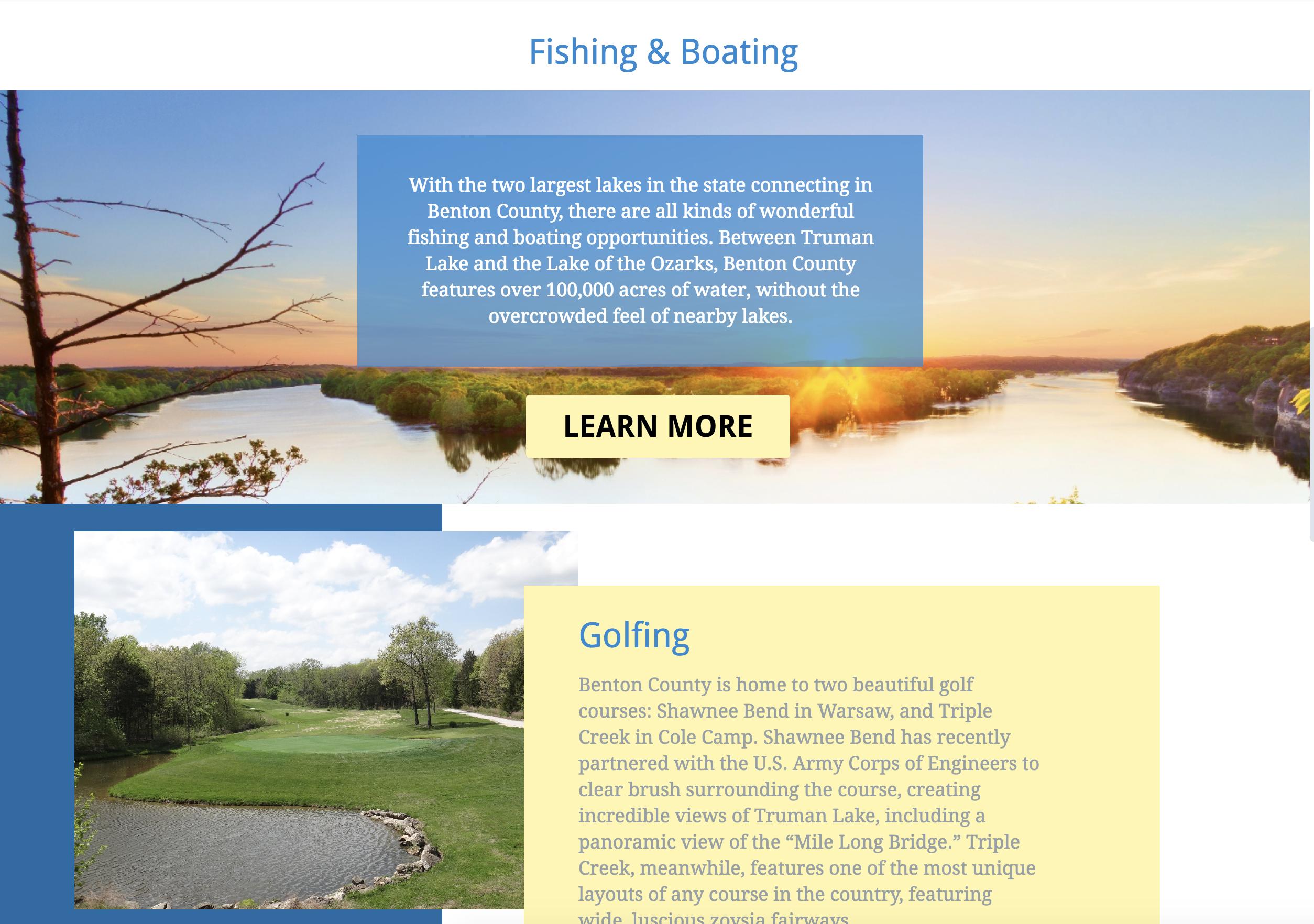 Benton County Tourism Website
