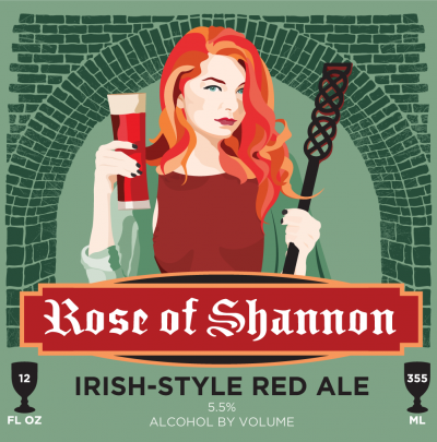 Black Cloister Brewing Company Rose of Shannon Label